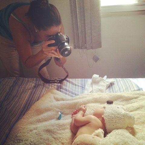 Foto tirada pela mamãe coruja do Matheus, que observava tudo. Obrigada Lu, pela foto!